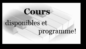 programme de notre méthode de piano